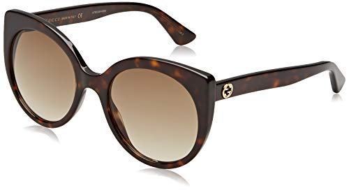 Gucci GG0325S-002 Occhiali da Sole, Marrone (Havana), 55 Donna