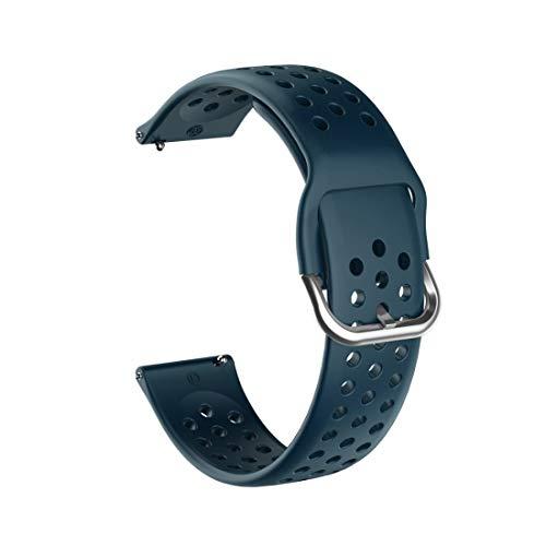 XUAILI - Cinturino per orologio da polso 20 mm per Huami Amazfit GTS/Samsung Galaxy Active 2/Huawei Watch GT2 42 mm di larghezza, con fibbia interna (colore Yan Qing)