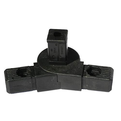 SV30G3, Steckverbinder mit Gelenk 0°-190° und 3 Zapfen für Rohr 30x30x2mm