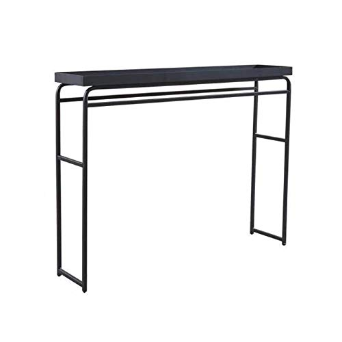Very Narrow Console Table, 24CM Width Wrought Iron Console Tables For Hallway Hotel Restaurant Against The Wall Shelf(Size:110 * 24 * 84.5CM,Color:black)