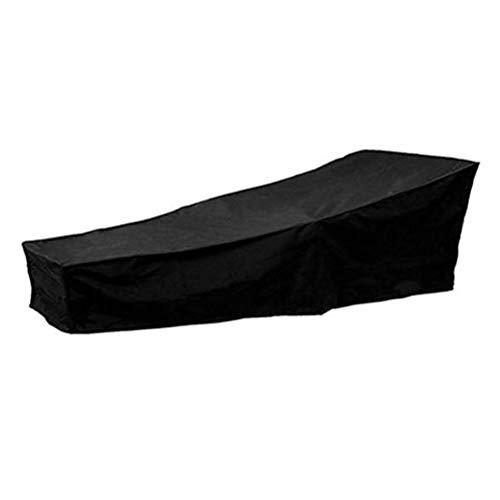 Dbtxwd Couvertures de Protection de Fauteuil de Salon inclinable Housse de Protection pour Jardin Patio étanche Anti-UV Black Guard,210 * 75 * 80/40CM