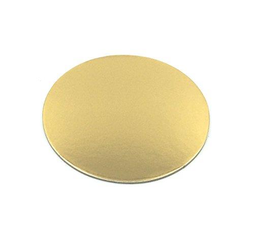 Lot de 10 plats à gâteau Sugar and Cakes Forme ronde - Diamètre de 25 cm - Épaisseur de 3 mm - Couleur dorée - Avec revêtement