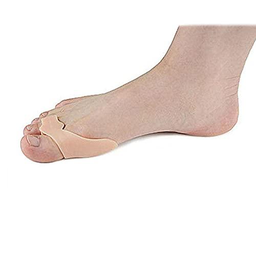 RRRYN Férulas de los Dedos, 1 Pareja Toe Hallux Valgus ortesis Silicone Toe Separator Correction Valgus Hallux Pies Foot Buion Uso Diario