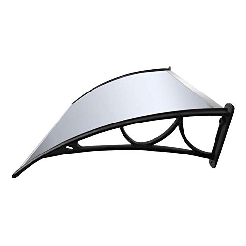 Patio Porch Awning Shelter Door Window Canopy Awning Shelter Polycarbonate Panel Clear Patio Roof Cover Arch Canopy For Front Back Porch And Outdoor Shade 6 Sizes