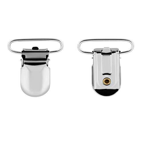 Schnullerkette Clip, Schnullerband Baby Set, Unisex-Metall Schnuller Halter für Baby
