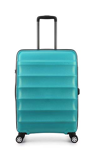 Antler Juno Metallics, Durable & Lightweight Hard Shell Suitcase - Colour: Opal, Size: Medium