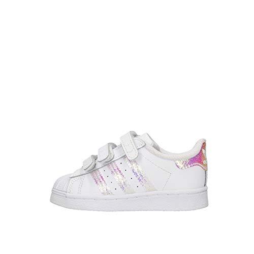 adidas Superstar CF, Sneaker Unisex-Infant, FTWR White/FTWR White/FTWR White, 26.5 EU