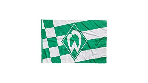 Unbekannt SV Werder Bremen Fahne/Hissfahne ** Karo und Streifen ** 100x150 mit 2 Ösen
