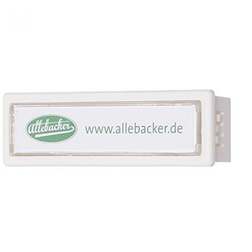 Namenschild für Briefkästen-Anlagen ( Renz,Knobloch,Allebacker...) Weiß