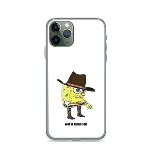 Pure Clear Phone Case What in Tarnation Sponge-bob Meme Compatible with iPhone 12 Pro Max 12 Mini 11 Pro Max X/XS Max XR SE 2020/8/7 6/6s Plus Case Accessories Scratch Drop
