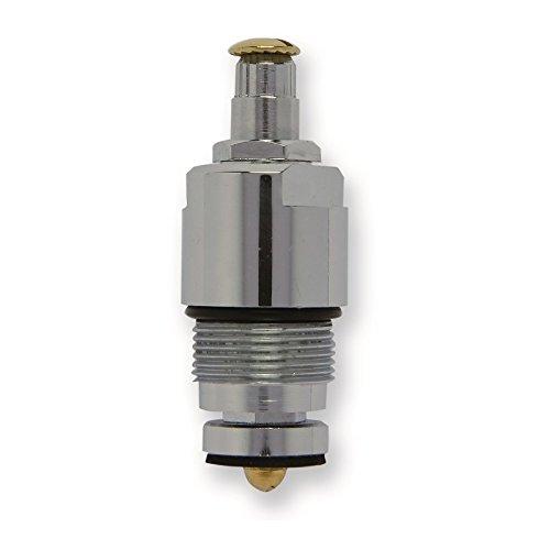 Vitoni per rubinetti Signorini UF, Vitoni compatibili con rubinetti Signorini filetto M 21x1.25 corpo spazzolato e cromato, asta cromata broccia 9x18 (Numero pezzi per confezione 2)