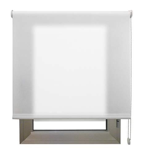 Decorestor Estor Translucido Premium A TU Medida, Desde 40 a 280 cm de Ancho. Permite Paso de Mucha luz y conserva tu intimidad. Color Blanco. Estores traslucidos de Calidad para Ventanas y Puertas.