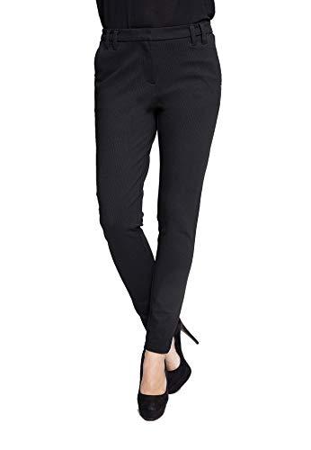 Zhrill Damen Stoffhose Anzugshose Vintage Slim Fit Sophia, Größe:W28 / L32, Farbe:N907 - Black