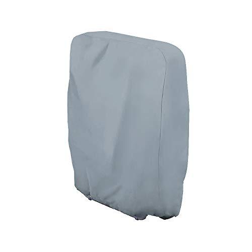 Uranbee Schutzhülle für Klappstuhl Liegestuhl Sonnenliege Deckchair Abdeckung Wasserdicht Anti-UV Gartenmöbel Schutz vor Wettereinflüssen und Beschädigungen 210D Oxford (Grau)