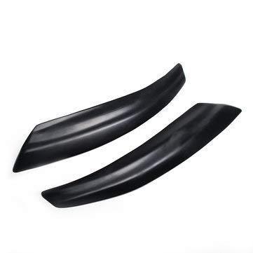 C-FUNN 1 paar glans zwart/mat zwart auto koplamp oogleden wenkbrauw wenkbrauw cover voor Saab 9-3 2000-2015 Mat zwart