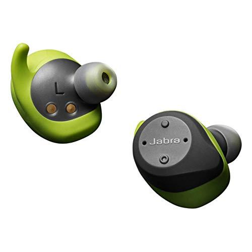 Jabra Elite Sport In-Ear Kopfhörer – True- Wireless-Kopfhörer mit integrierter Fitness App für Anrufe und Musik – Grau / Grün