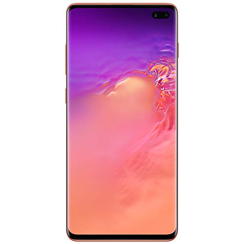 Samsung Galaxy S10+ Factory Unlocked Android Cell Phone | US Version | 128GB of Storage | Fingerprint ID and Facial Recognition | Long-Lasting Battery | Flamingo Pink