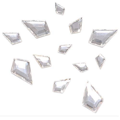 Swarovski 2771 Kite Flatbacks Crystals Nail Art Rhinestones, Mixed Size (12.9x8.3mm, 8.6x5.6mm and 6.4x4.2mm) Crystal Clear(001)- 12 Pieces