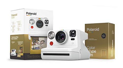 Polaroid Originals Now I-Type Instant Camera - The Golden Gift Box - Camera+Film Bundle (6093)