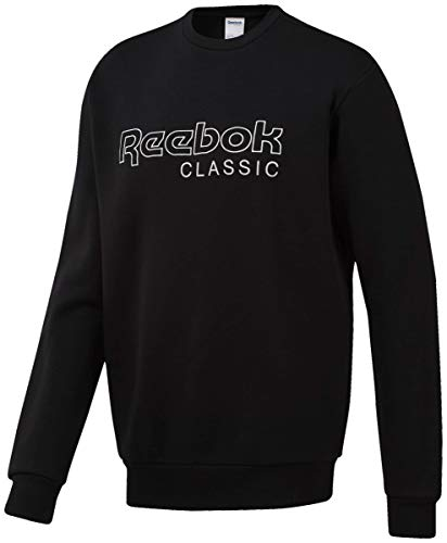 Reebok Herren Classics Crew Neck Sweatshirt mit Rundhalsabschnitt, schwarz, Medium
