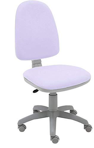 La Silla de Claudia - Silla de Escritorio giratoria Torino Gris ergonómica para Oficina y hogar con Contacto Permanente (Lila)