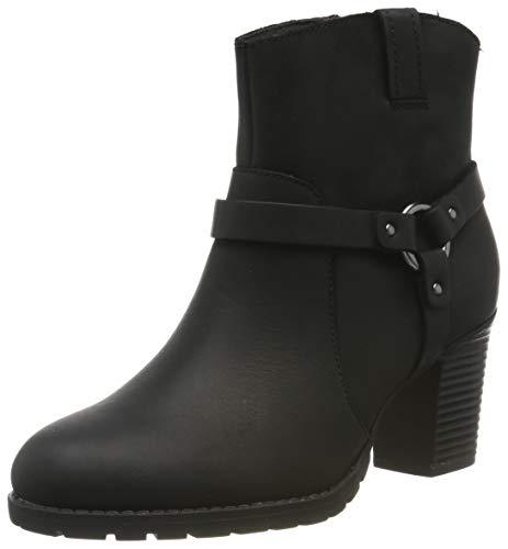 Clarks Verona Rock, Stivali Arricciati Donna, Nero Black Leather Black Leather, 42 EU