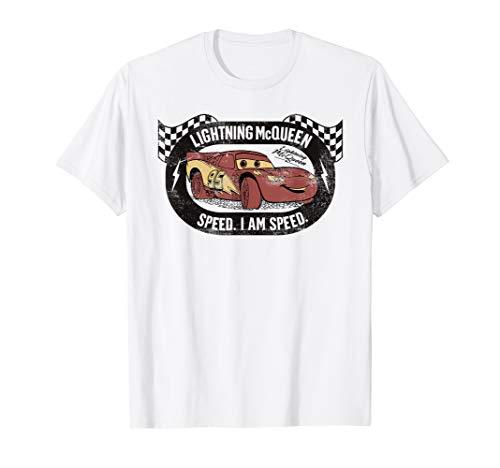 Disney Pixar Cars Lightning McQueen I am Speed T-Shirt
