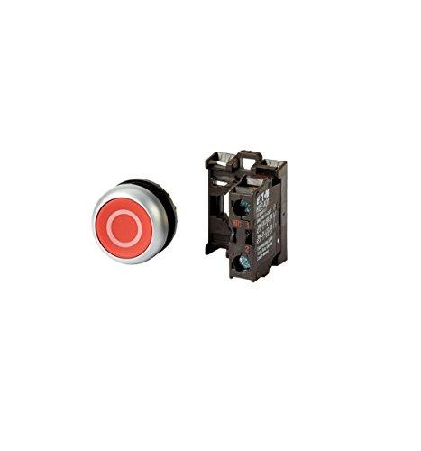 Eaton 216510 Drucktaster, 1 Öffner flach, rot, Frontbefestigung