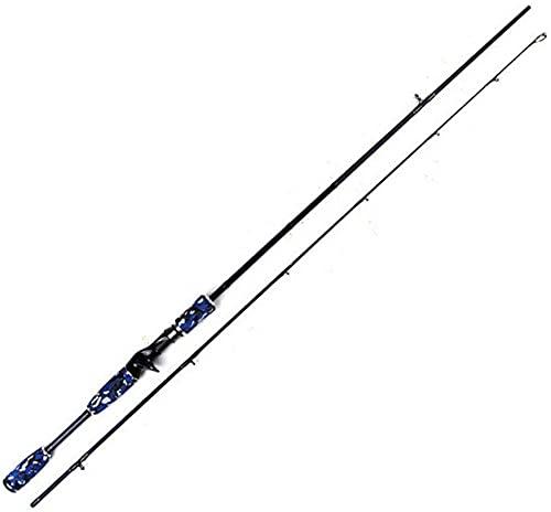 TAIDENG Conjunto de Engranajes de Pesca Cañas de Pescar, Potencia de Carbono Armador de Fibra de Humanos Casting Spinning Cebo Caster para mar y Agua Dulce 1.98/2.1m Mejor Regalo (Size : 1.98M)