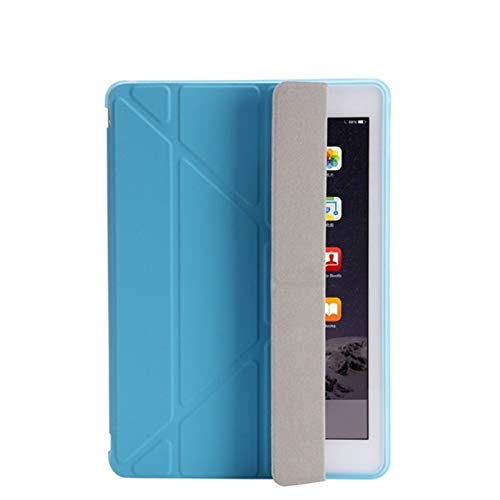 HHF Pad Accesorios para iPad 2/3/4 9.7 2018/2017 5 / 6th, Ultra Thin PU Cuero Suave Cubierta Inteligente para iPad Mini 1/2/3/4/5 7.9' (Color : Blue, Talla : For ipad10.2 7th2019)