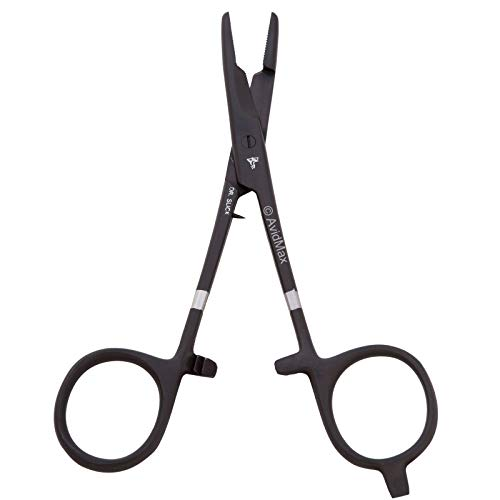 Dr. Slick Scissor Clamp, 5-1/2', Black, Straight, 1/2