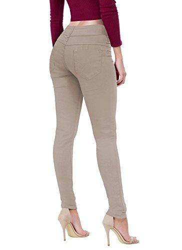Women's Butt Lift V2 Super Comfy Stretch Denim Jeans P43629SKX Khaki 18