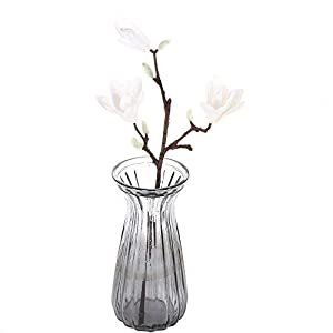 Artificial and Dried Flower 3D Silk Magnolia Branch Artificial Flowers Fake Flower for Wedding Decoration Home Decoration Party Accessory – ( Color: White )