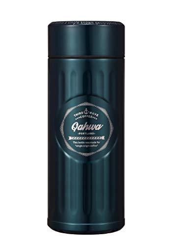 シービージャパン 水筒 ブルー 420ml 直飲み ステンレス ボトル 真空 断熱 カフア コーヒー ボトル QAHWA