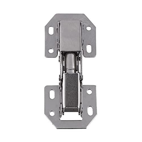 FKSDHDG 10 unids 3 pulgadas puente en forma de primavera rana bisagra gabinete armario puerta bisagras sin agujero de perforación muebles hardware gabinete de cocina