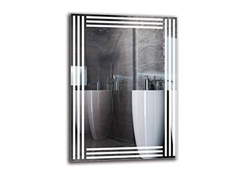 Espejo LED Premium - Dimensiones del Espejo 50x70 cm - Espejo de baño con iluminación LED - Espejo de Pared - Espejo de luz - Espejo con iluminación - ARTTOR M1ZP-51-50x70 - Blanco frío 6500K