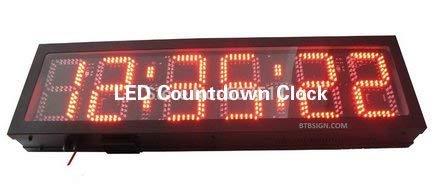 Nuokix Relojes de Pared, Reloj de Pared 8 '' LED Reloj de Cuenta atrás del Temporizador El Tiempo de Carrera con el Conde Arriba/Abajo Temporizador Multi-función de Reloj/Temporizador HH: MM: SS d