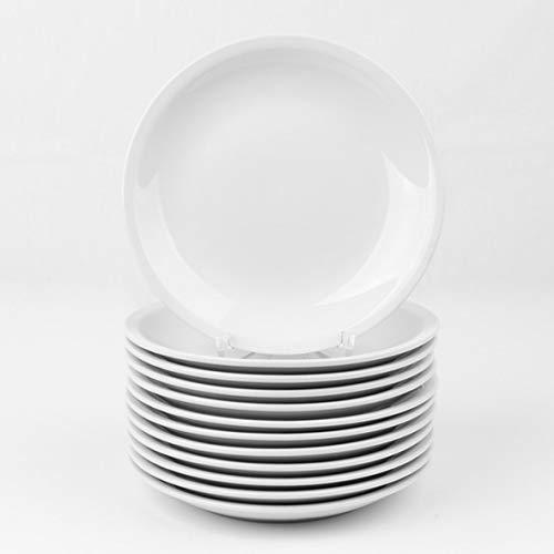 Holst Porzellan Vorteilsset 12er Set Teller flach 21 cm, Porzellan, 20.5 cm