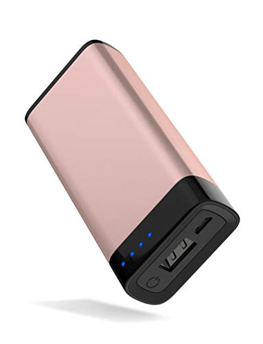 TalkWorks Portable Charger Power Bank USB Battery Pack 4000 mAh - External Cell Phone Backup Supply for Apple iPhone 12, 11, XR, XS, X, 8, 7, 6, SE, iPad, Android for Samsung Galaxy - Rose, Gold