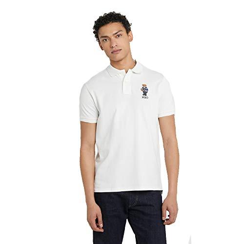 Ralph Lauren Polo Manica Corta Slim Fit (XL, Pure White)