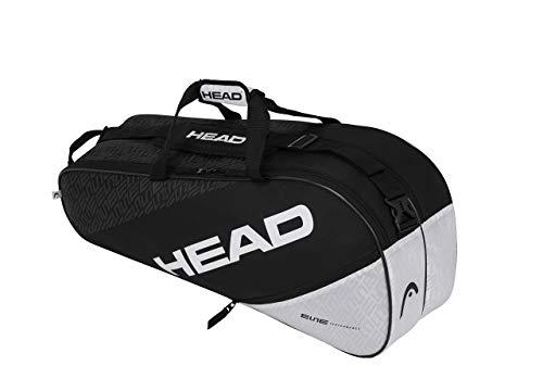 HEAD Elite 6R Combi, Borsa per Racchetta Unisex Adulto, Nero/Bianca