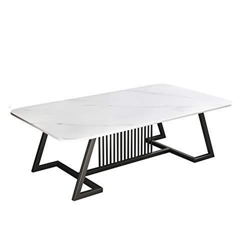Tolalo Tavolini da caffè, tavoli da caffè Semplice tavolini da tavolini per Appartamento Soggiorno Balcone e Camera da Letto rettangolo tavolino da tè in Marmo (Colore: Bianco)
