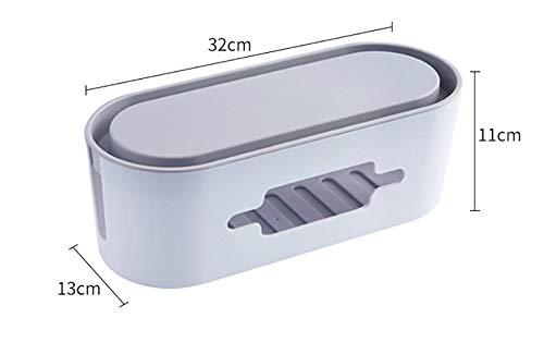 Kabelbeheerbox, wit 13x32x11cm-klein, gebruikt om opbergdozen met verwarde kabels te verbergen, thuis- en kantoorkabelorganisatie