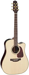 Takamine Pro Series 5 P5DC Dreadnought Body Acoustic Electric Guitar with Case, Natural