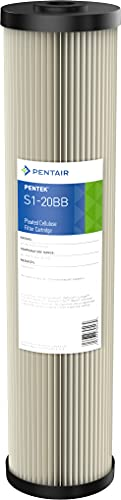 Pentair Pentek S1-20BB Big Blue Sediment Water Filter, 20-Inch, Whole House Pleated Cellulose Filter Cartridge, 20' x 4.5', 20 Micron