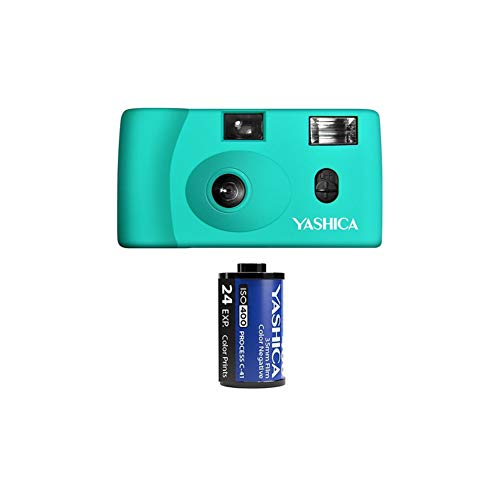 Yashica MF-1 Snapshot Art 35mm Film Camera Set (Turquoise)