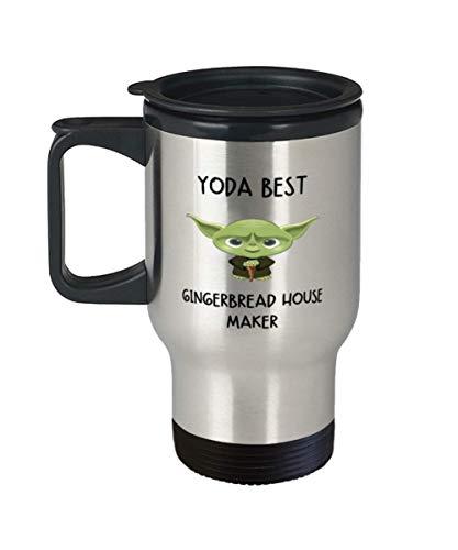 Gingerbread house making Travel Mug Yoda Best Gingerbread house maker for Men Women Tumbler 11oz
