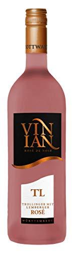 Württemberger Wein Bottwartaler Vinian Trollinger mit Lemberger rosé QW halbtrocken (1 x 0.75 l)