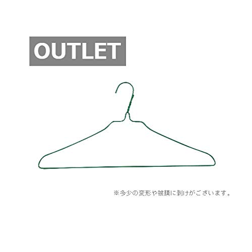 【アウトレット品】針金ハンガー 40�p 25本組 (グリーン)