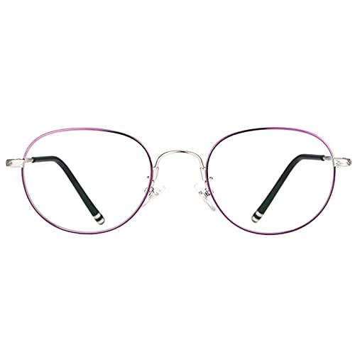 Gafas de Lectura con Bloqueo de Luz Azul para Combatir El Dolor de Cabeza Y Los Ojos, Gafas de Juego de Computadora Súper Ligeras, Accesorios de Moda, Bisagras de Resorte Redondas Grandes